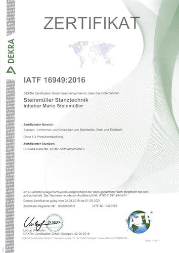IAFT Zertifikat